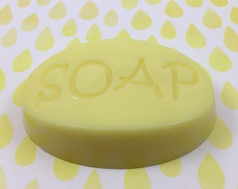 Lemon Soap | Fresh Squeezed Lemon Scent Yellow Goat's Milk S.O.A.P | Guest Size Soap Bar | Hostess Gift | Gift for Her | Travel Size Soap