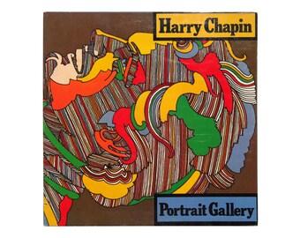"Milton Glaser record album design, 1975. Harry Chapin ""Portrait Gallery"" LP"