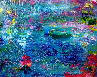 Spirit Lake Original Abstract Painting