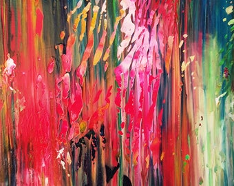 Secret Forest Garden Abstract Original Painting