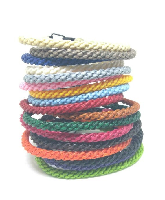 Classic Wax Cotton Thai Wristband Bracelet
