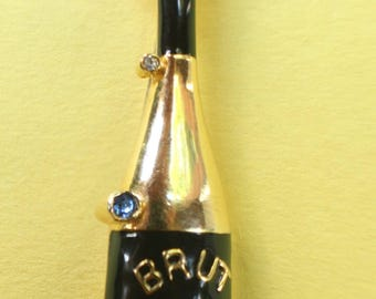 Brut Champagne Celebration Pin/ Brooch