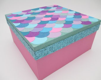 Mermaid Keepsake Box - 1st. Birthday- First Birthday - Time Capsule - Personalized