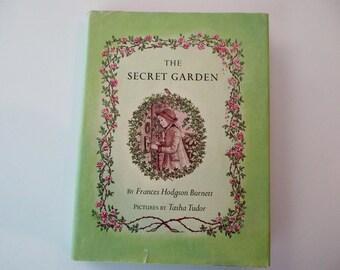 60s vintage book - The Secret Garden, Burnett, illustrated by Tasha Tudor