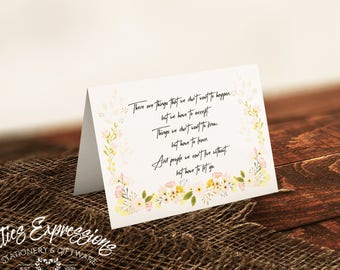 There are things that we don't want to happen A7 Sympathy Card/Greeting Card/Stationery/Card/Sympathy Card/Comforting Card/Loss
