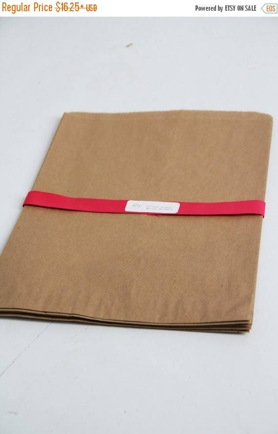 "ON SALE Kraft Paper Bags- XXL size  16"" x 3-3/4 "" x 24"" Lot of 35   flat paper bags, merchandise bags, kraft paper favor bags, blank paper b"