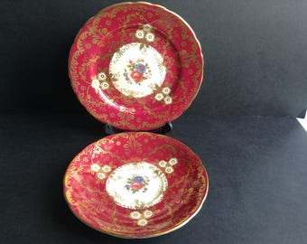 Aynsley Saucer and Plate, Royalty