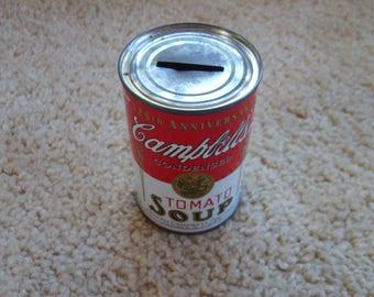 Campbell Soup Can Bank, Advertising Bank, Coin Bank