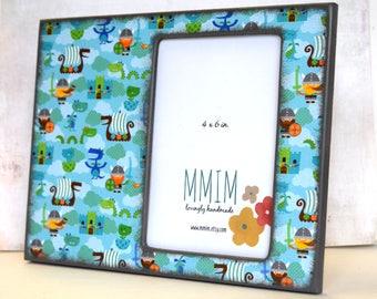 Vikings Frame / Frame / Picture Frames / Instagram Frame / Unique Frames / Viking /  Dragon /  Kids room / wood frame / 4 x 6 Frame / Castle