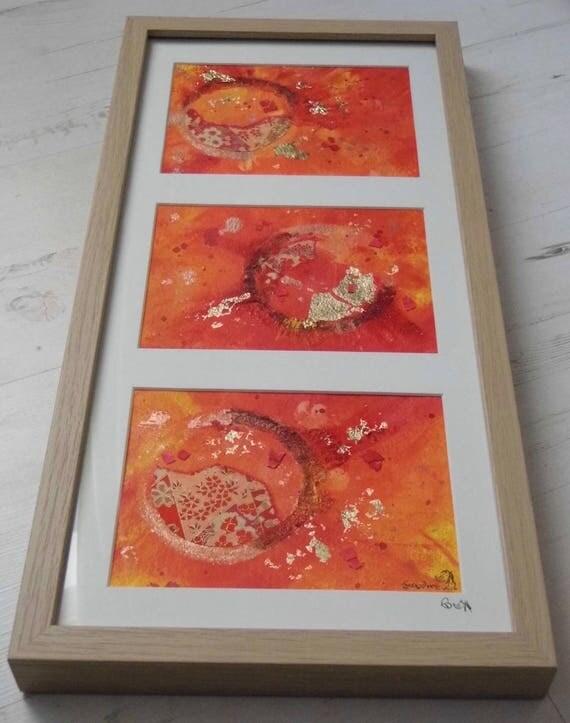 Framed Orange Abstract