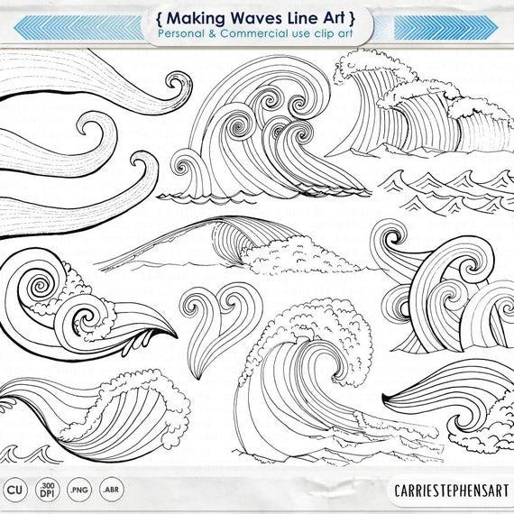 wave line art silhouettes water clip art coastal clipart ocean rh catchmyparty com Ocean Wave Clip Art Surfing Wave Clip Art