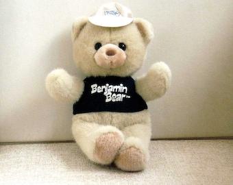 Teddy Bear, Benjamin Bear Stuffed Animal, Benjamin Moore Paint Advertising Mascot, Vintage 1990 Russ Berrie Plush Animal Toy, Gift for Kids