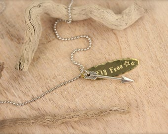 Sale Arrow Fly Free Necklace