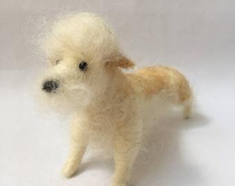 Needle Felted Dandie Dinmont Dog