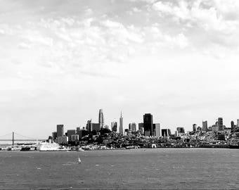 San Francisco Skyline Black and White Fine art photography digital artwork San Francisco large artwork city skyline art