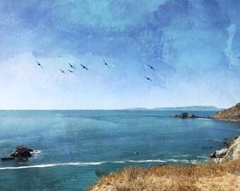 Beach Art, Ocean Art, Fine art photo, Ocean Art, digital artwork, large artwork, Abstract Beach Art, California Art, Cliffs