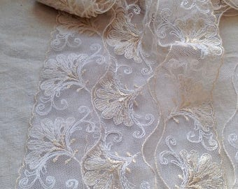 Antique Lace. Vintage Lace Trim, Needlepoint Cream Lace, Period Costume Vintage Wedding Something Old Edwardian Bride