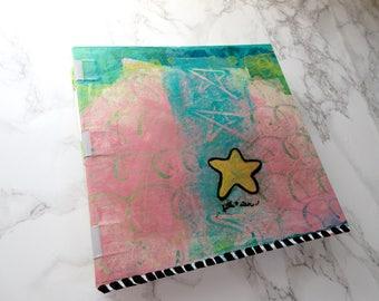 Handbound Art Journal Watercolour Sketchbook - Little Star