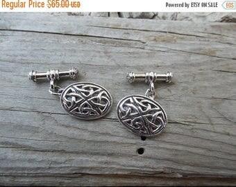 ON SALE Celtic cufflinks handmade in sterling silver