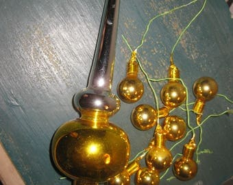 Vintage Hand Blown Glass Christmas Tree Topper