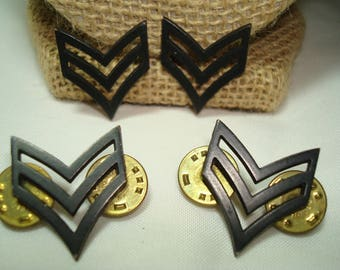 Vintage Two Sets of United States ARMY Enlisted Rank E-4 Collar pins.
