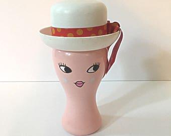 Vintage Miss LOLLYPOP - Cologne Mist - Avon Collectible - Retro Spray Perfume - With Original Hat