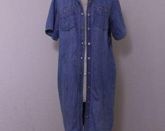 Vintage Tommy Hilfiger Denim Shirt Dress