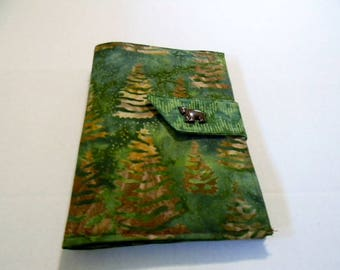 Green Trees Batik Mini iPad/Nook Color Cover