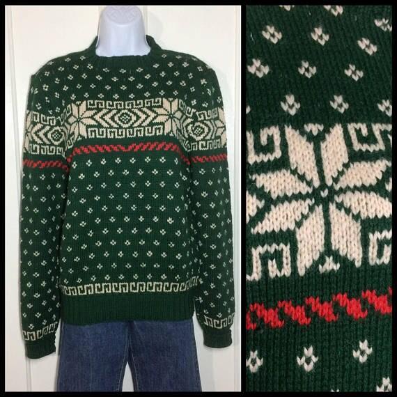 vintage wool snowflake sweater