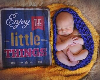 Chunky Baby Bowl Newborn Egg in Cobalt Blue