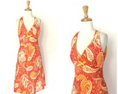 Vintage Paisley Dress - s...