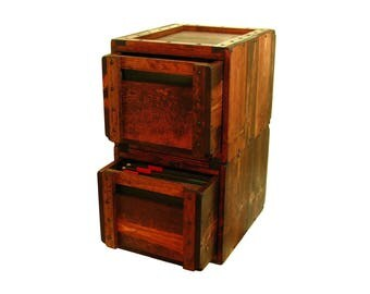 File Cabinet, Modular Filing Cabinet, File Organizer, Rustic Solid Wood File Storage & Organization