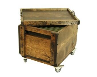 Rolling File Storage, File Organizer on Wheels, Rolling File Crate, Lidded File Box on Wheels, Mobile File Storage & Organization