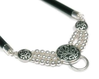 Sale| Pendant Holder Necklace, DIY Necklace, Ornate Necklace Charm Holder, Interchangeable Jewelry, Necklace for Clip On Pendants, DIY Jewel