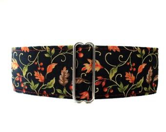 Fall Martingale Collar, 1.5 Inch Martingale Collar, Fall Dog Collar, Fall Leaves Martingale, Fall Leaves Dog Collar
