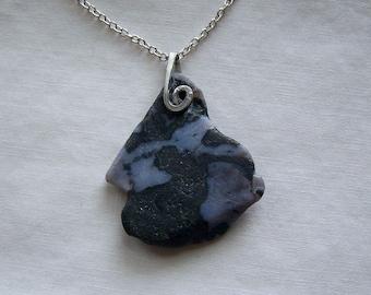 Mystic Merlinite Indigo Gabbro Natural Stone Pendant