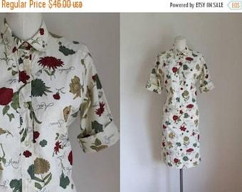 20% off SALE vintage 1960s dress - FLOWER of the MONTH floral dress / M