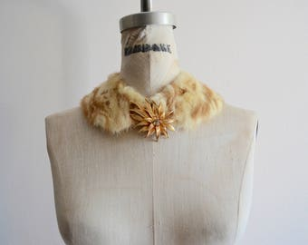 BLONDE Mink Fur Collar Beautiful Rich Scarf Fashion Street Style