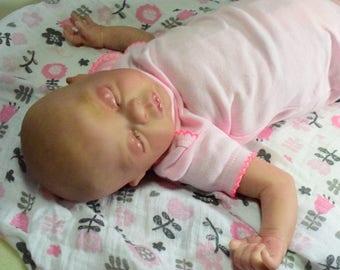 Reborn baby, preemie baby,  baby doll, OOAK small preemie, baby reborn girl, preemie girl, Preemie, baby girl, ready to ship reborn baby