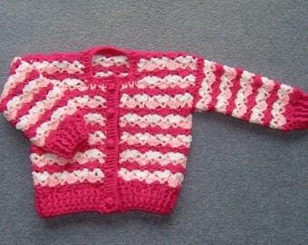 Girl's crochet cardigan (ref 003)