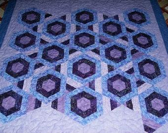 Stack N Whack Purple Lap quilt