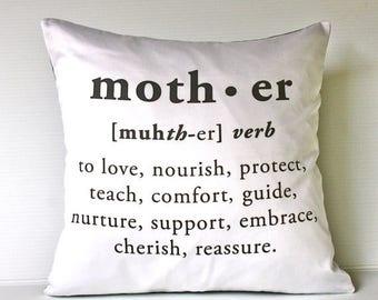 "SALE SALE SALE 16 x 16 inch Mother cushion decorative pillow  eco friendly organic cotton cushion cover, pillow, 16"", 41cms"