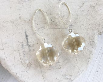 Faceted Champange Earrings
