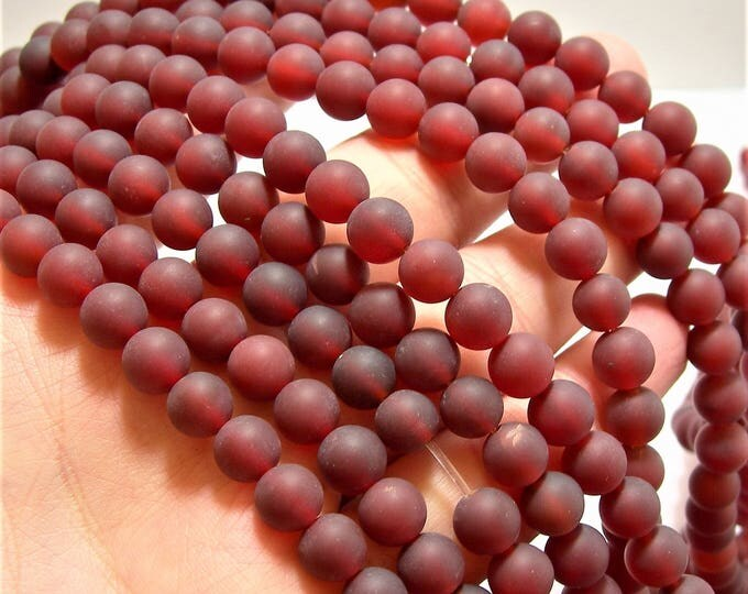 Carnelian 8mm round beads - Matte - 1 full strand - 48 beads per strand - AA quality - WHOLESALE DEAL - RFG1223