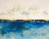 Large Blue Abstract Seasc...