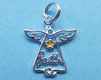 Sterling Silver Faith Angel Charm