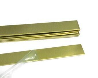 1/2 x 6  Brass braclet Strips - 18G -Rectangle  Blanks - 18 gauge -bracelet blanks - Hand stamping metal blanks