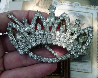 Vintage Rhinestone Crown & Scepter Barrette, offered by RusticGypsyCreations