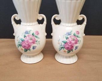 Vintage Pair of Royal Copley Vases