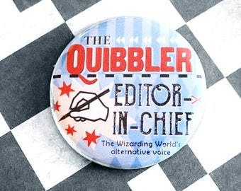 Geeky Pinback Buttons Harry Potter Quibbler Fandom Apparel Accessories